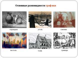 Основные разновидности графики карандаш уголь сангина пастель тушь гравюра