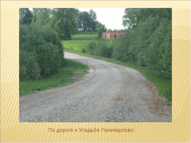 По дороге к Усадьбе Паникарпово.
