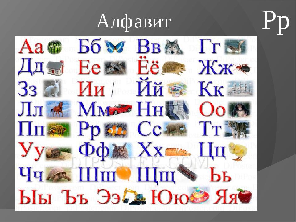 Алфавит Рр