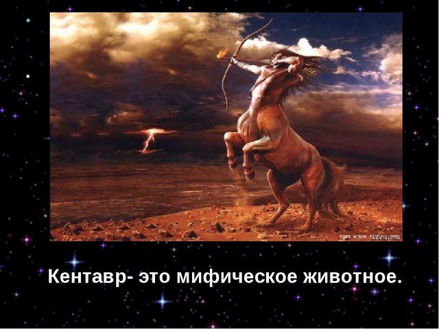 Кентавр- это мифическое животное. Кентавр- это мифическое животное.