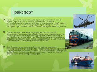 Транспорт Волго-Вятский экономический район располагает всеми видами транспор