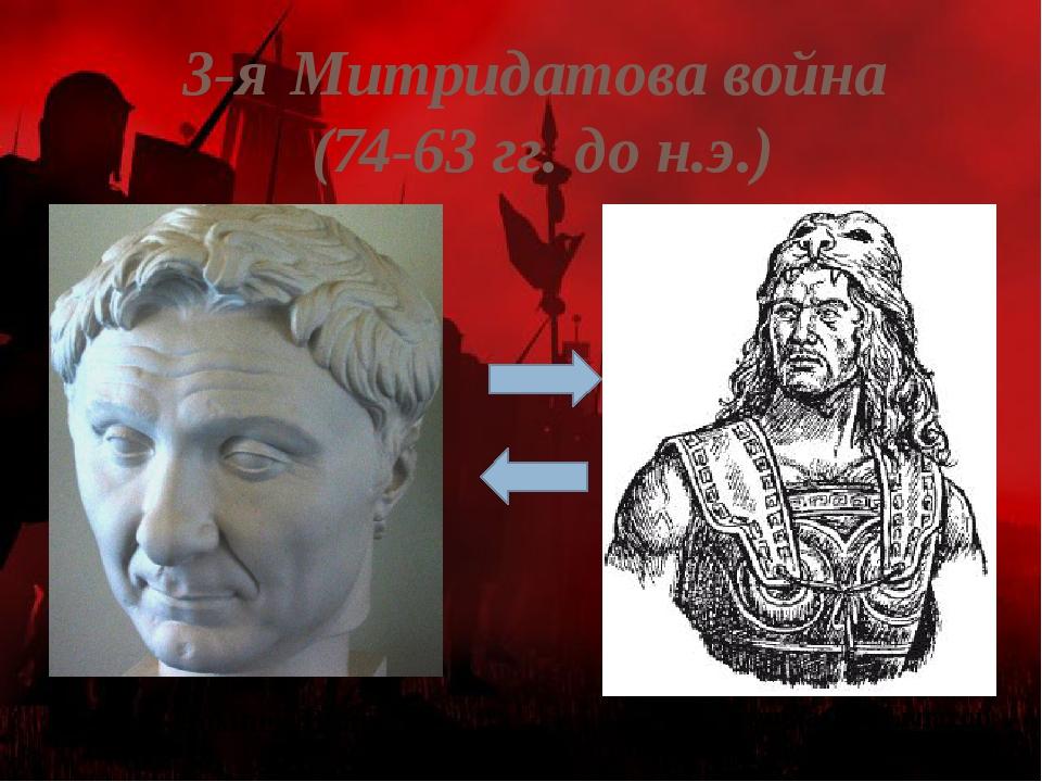 3-я Митридатова война (74-63 гг. до н.э.) Гней Помпей Великий Митридат VI Евп...