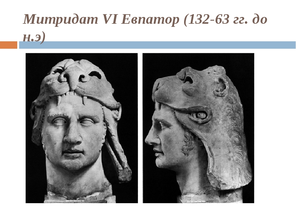 Митридат VI Евпатор (132-63 гг. до н.э)