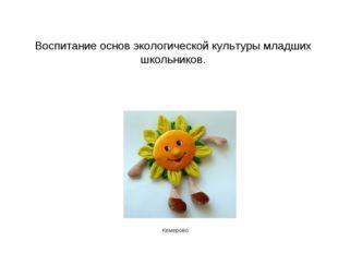 Воспитание основ экологической культуры младших школьников. Кемерово