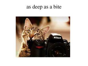as deep as a bite