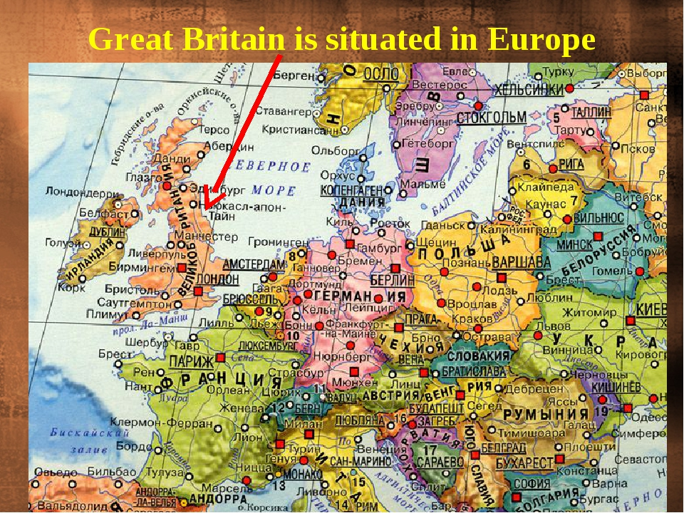 Great Britain is situated in Europe