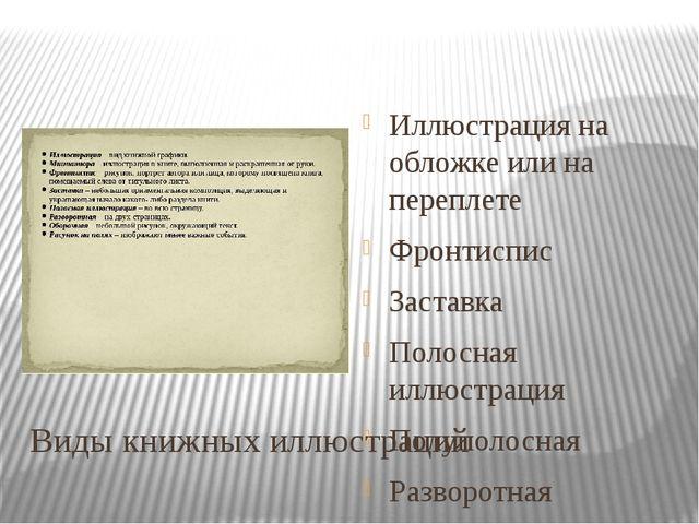 Виды книжных иллюстраций Иллюстрация на обложке или на переплете Фронтиспис З...