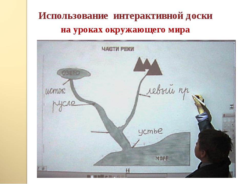 Использование интерактивной доски на уроках окружающего мира