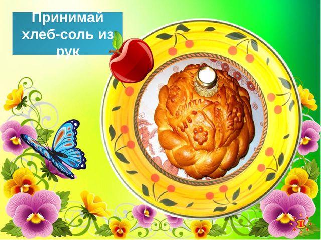 Принимай хлеб-соль из рук