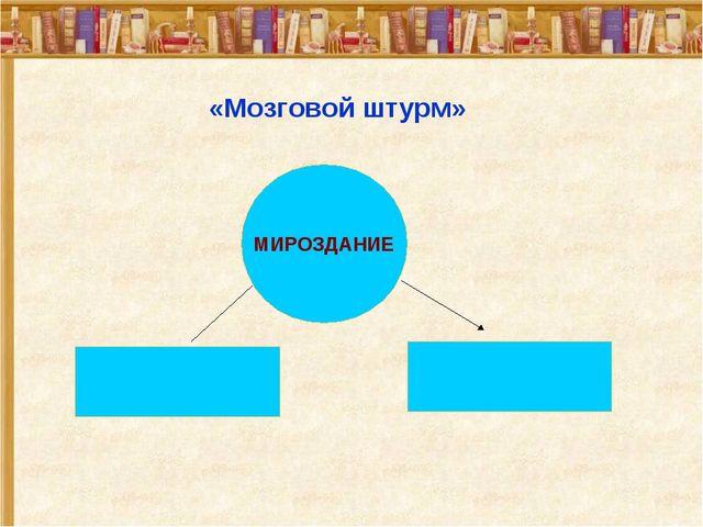 «Мозговой штурм» МИРОЗДАНИЕ