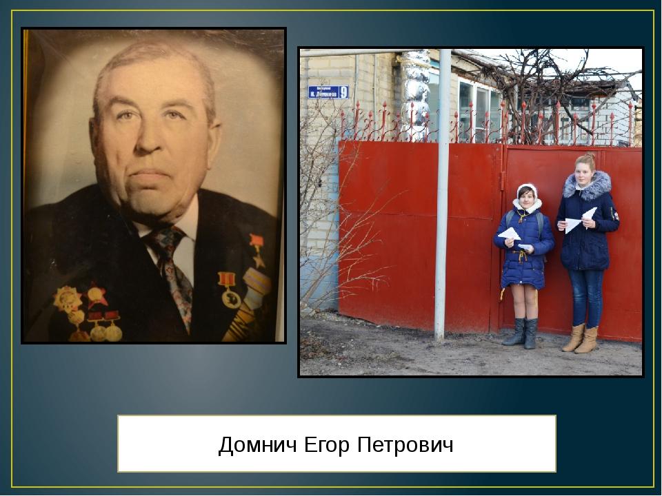 Домнич Егор Петрович