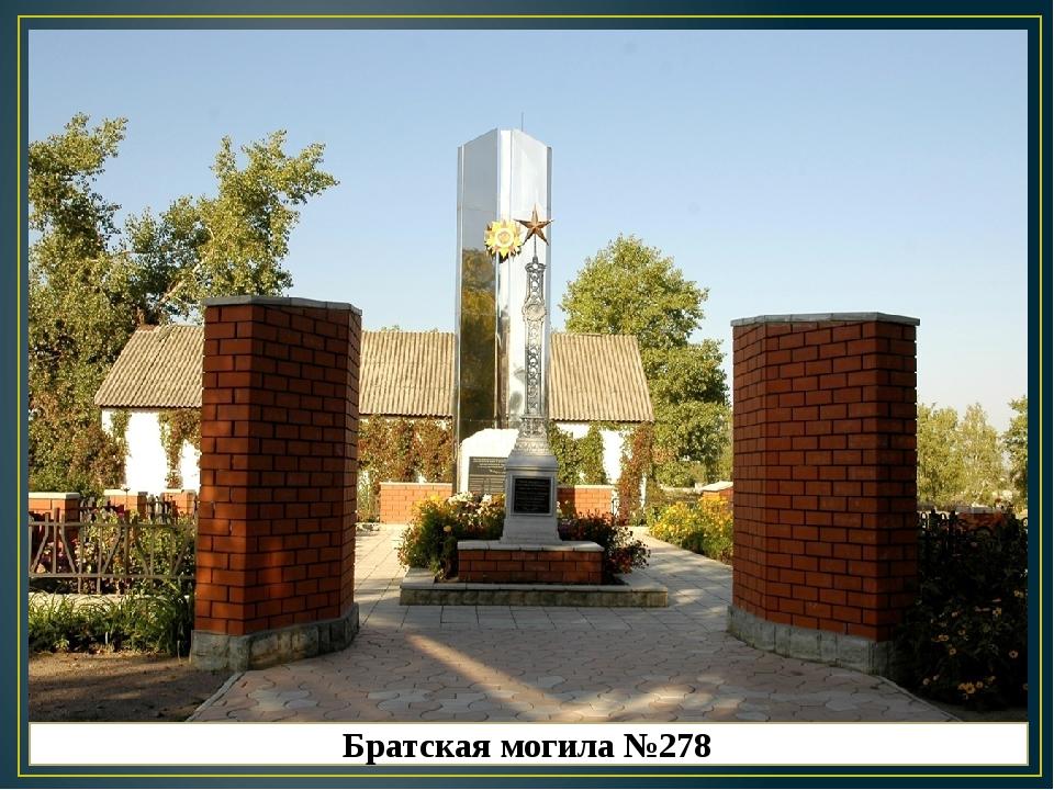 Братская могила №278