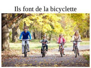 Ils font de la bicyclette