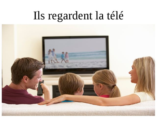 Ils regardent la télé