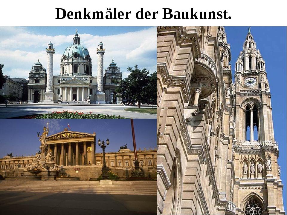 Denkmäler der Baukunst.