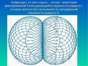 Нефроида ( от греч.vεφρος – почка)- траектория фиксированной точки движущейся