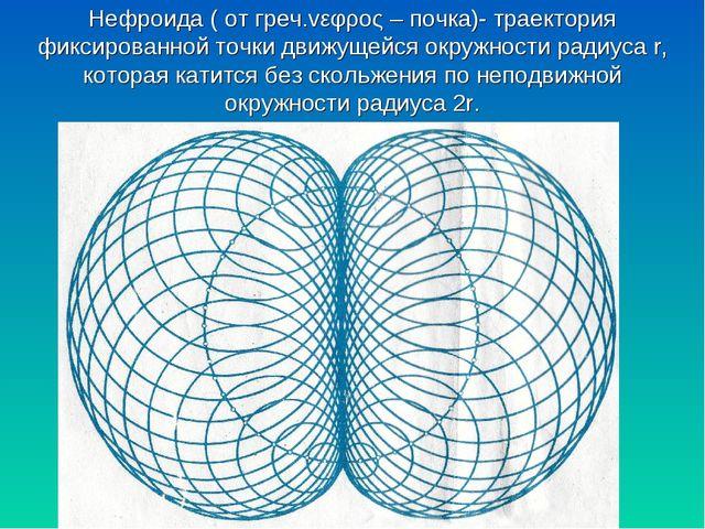 Нефроида ( от греч.vεφρος – почка)- траектория фиксированной точки движущейся...