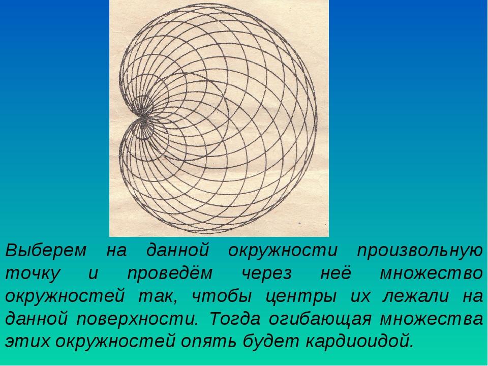 Выберем на данной окружности произвольную точку и проведём через неё множеств...