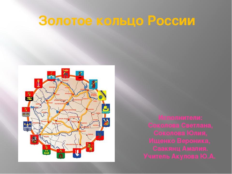 Золотое кольцо России Исполнители: Соколова Светлана, Соколова Юлия, Ищенко В...