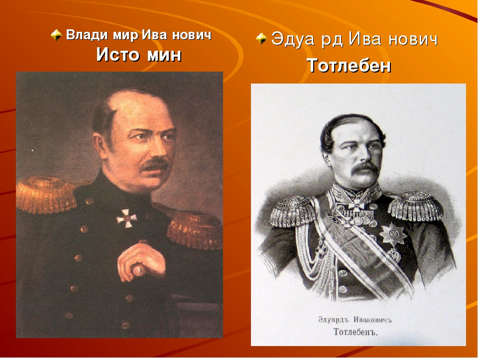 Влади́мир Ива́нович Исто́мин Эдуа́рд Ива́нович Тотлебен