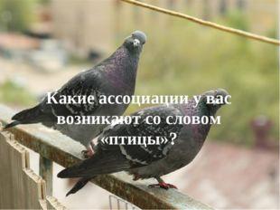 Какие ассоциации у вас возникают со словом «птицы»?