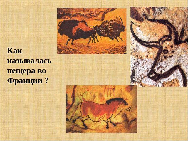 Как называлась пещера во Франции ?