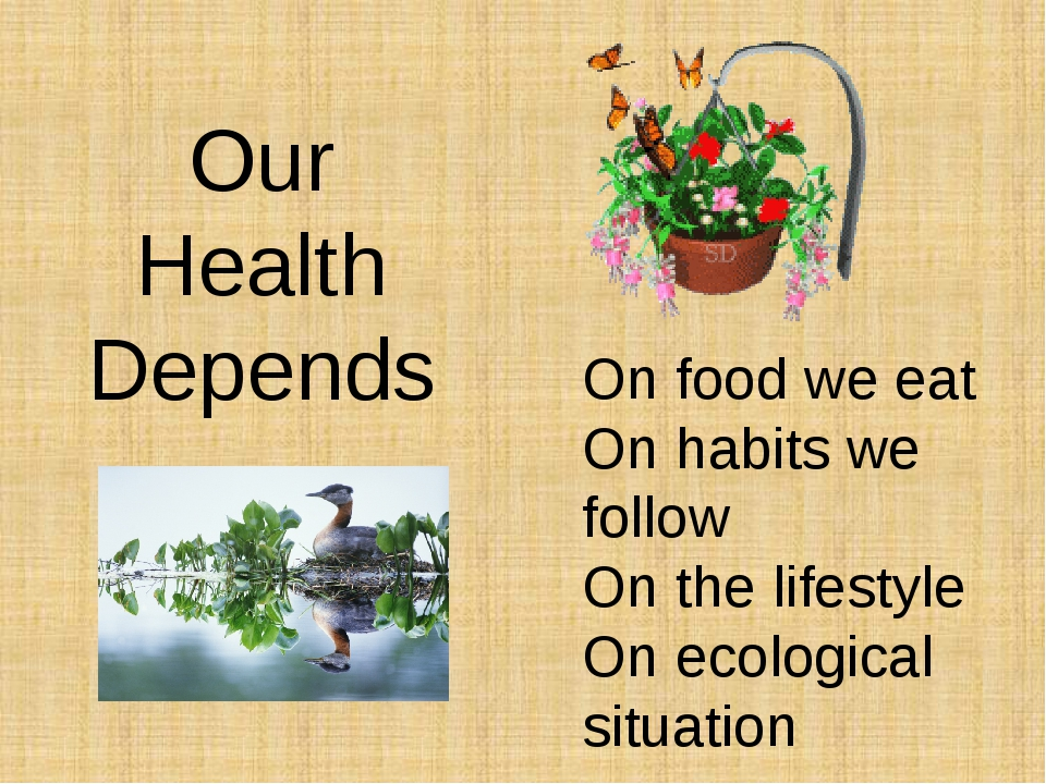 Our Health Depends On food we eat On habits we follow On the lifestyle On eco...