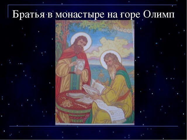 Братья в монастыре на горе Олимп