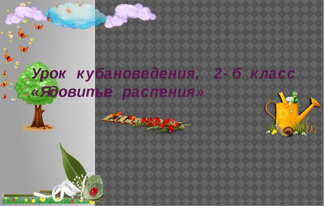 Урок кубановедения, 2-б класс «Ядовитые растения»