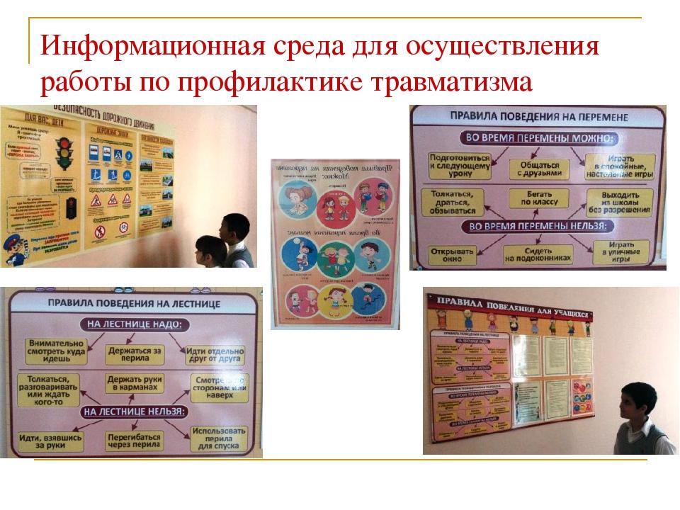 Информационная среда для осуществления работы по профилактике травматизма