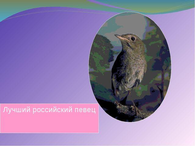 Лучший российский певец