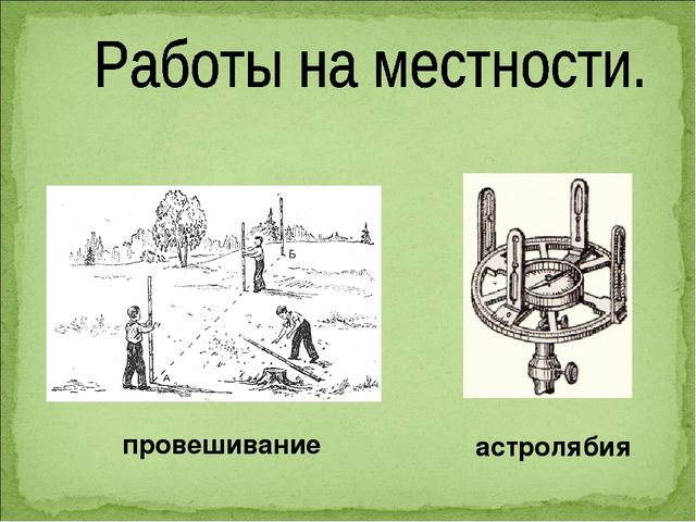 провешивание астролябия