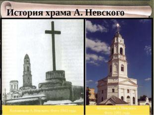История храма А. Невского Колокольня А.Невского. Фото 1943 года. Колокольня А