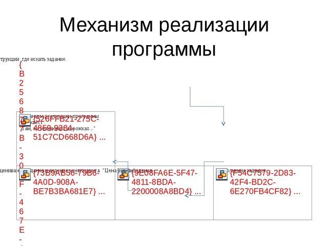 Механизм реализации программы
