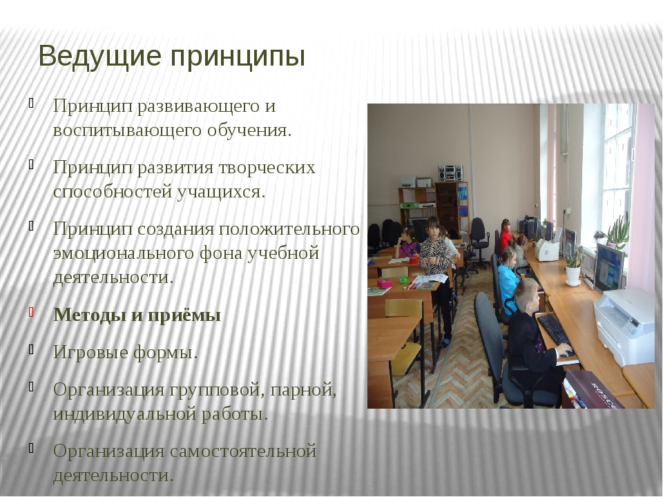 Ведущие принципы Принцип развивающего и воспитывающего обучения. Принцип разв...