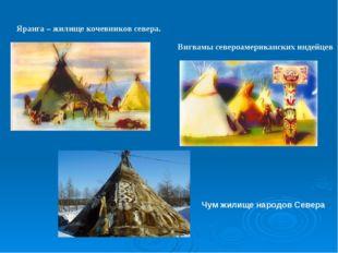 Яранга – жилище кочевников севера. Вигвамы североамериканских индейцев Чум жи