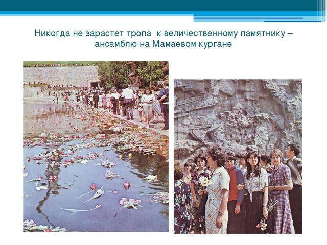 Никогда не зарастет тропа к величественному памятнику – ансамблю на Мамаевом...