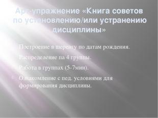 Арт-упражнение «Книга советов по установлению/или устранению дисциплины» Пост