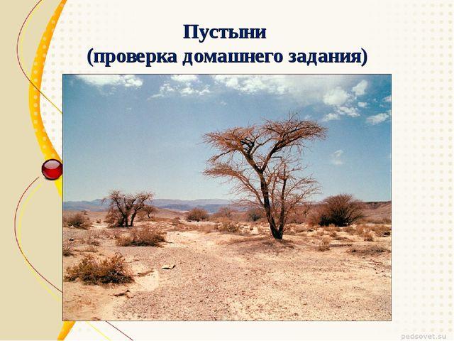 Пустыни (проверка домашнего задания)