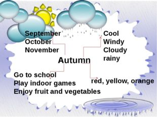 Autumn September October November Cool Windy Cloudy rainy red, yellow, orange