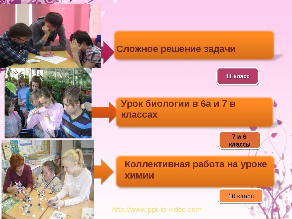 http://www.ppt-to-video.com 10 класс Урок биологии в 6а и 7 в классах 7 и 6 к...