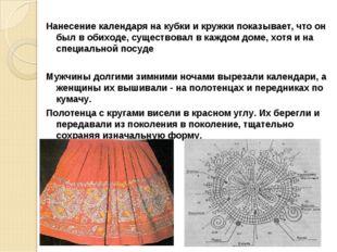 Нанесение календаря на кубки и кружки показывает, что он был в обиходе, сущес