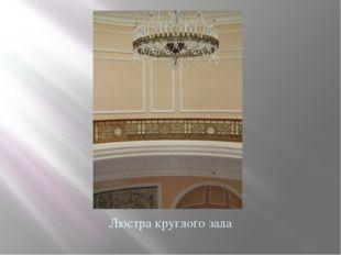 Люстра круглого зала