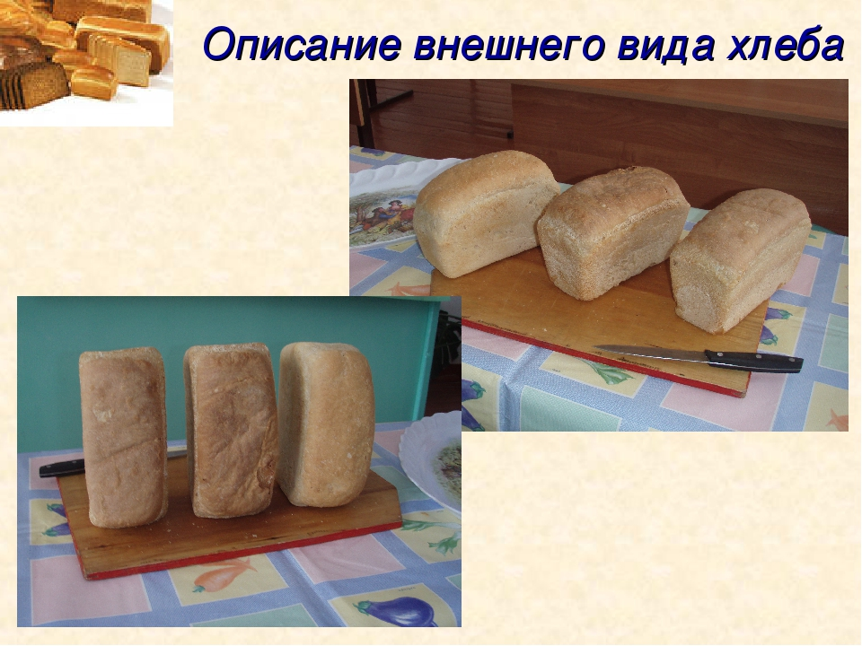 Описание внешнего вида хлеба