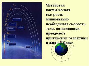 Четвёртая косми́ческая ско́рость — минимально необходимая скорость тела, позв