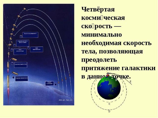 Четвёртая косми́ческая ско́рость — минимально необходимая скорость тела, позв...