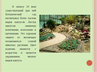 К началу 19 века существующий при ней Ботанический сад насчитывал более тыся