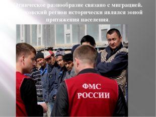 Этническое разнообразие связано с миграцией. Московский регион исторически яв