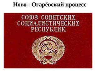 Ново - Огарёвский процесс