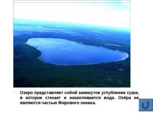 Озеро представляет собой замкнутое углубление суши, в которое стекает и нака